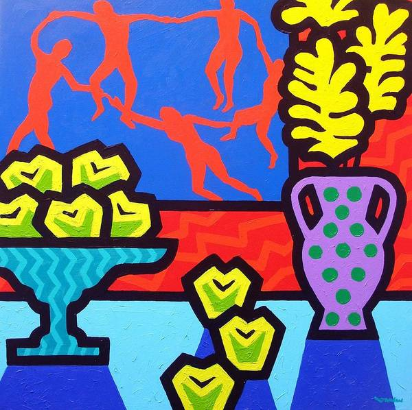 Modern Poster featuring the painting Still Life With Matisse by John Nolan