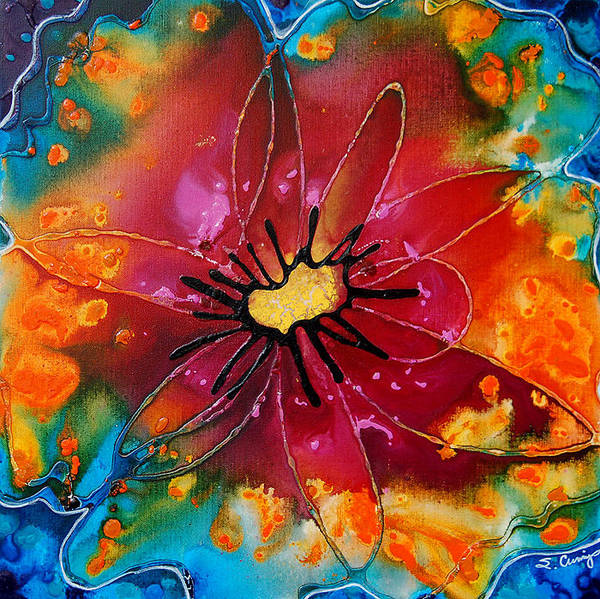 Abstract Art Poster featuring the painting Summer Queen by Sharon Cummings