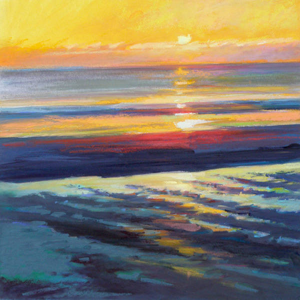 Sunrise Poster featuring the painting Sunrise Flats by Ed Chesnovitch