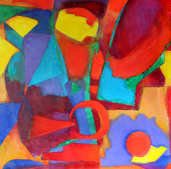 Abstract Expressionism Poster featuring the mixed media Syncopated by Diane Fine