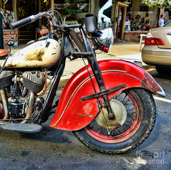 Paul Ward Poster featuring the photograph Vintage Indian Motorcycle - Live To Ride by Paul Ward
