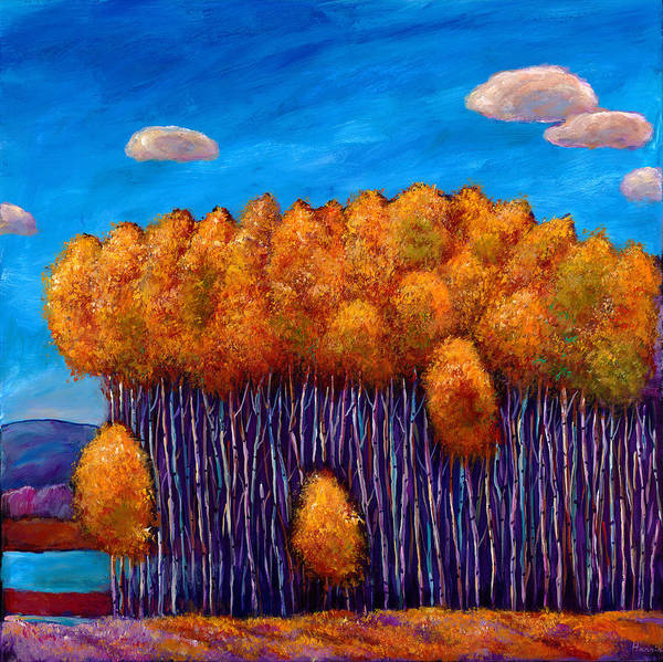 Autumn Aspen Poster featuring the painting Wait And See by Johnathan Harris