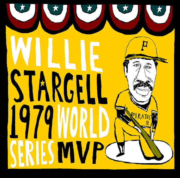 Willie Stargell Poster featuring the painting Willie Stargell Pittsburgh Pirates by Jay Perkins