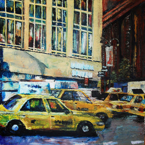 Taxi Poster featuring the painting Yellow Congestion by Lauren Luna