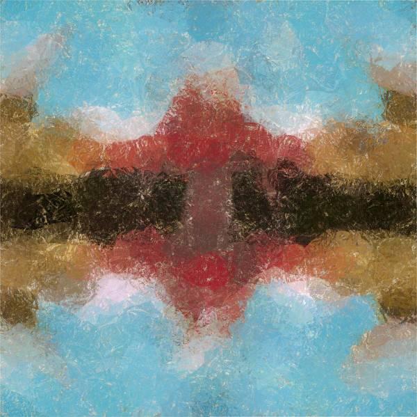 Abstract Poster featuring the digital art Brushfire by Mark Einhorn