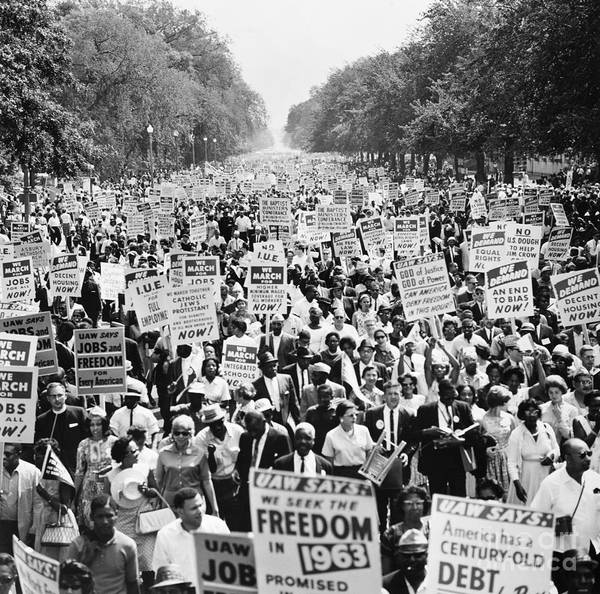 1963 Poster featuring the photograph March On Washington. 1963 by Granger