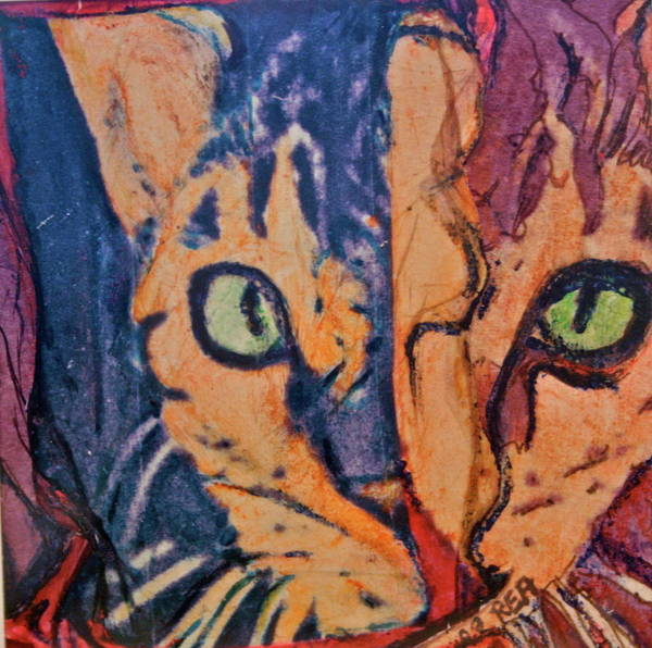 Cat Poster featuring the painting Colors Of A Cat by Ruth Edward Anderson