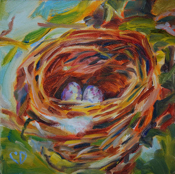 Nest Poster featuring the painting Home Sweet Home by Carol DeMumbrum
