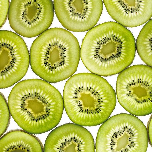 Kiwi Poster featuring the photograph Kiwi Slices by Mark Sykes