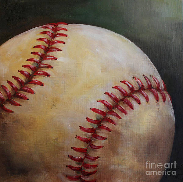 Kristine Kainer Poster featuring the painting Play Ball No. 2 by Kristine Kainer