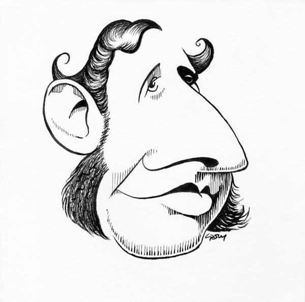 Robert Fitzroy Poster featuring the photograph Robert Fitzroy, Caricature by Gary Brown
