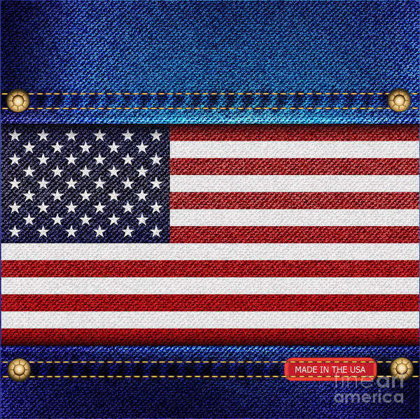 Background Poster featuring the photograph Stars And Stripes Denim by Jane Rix