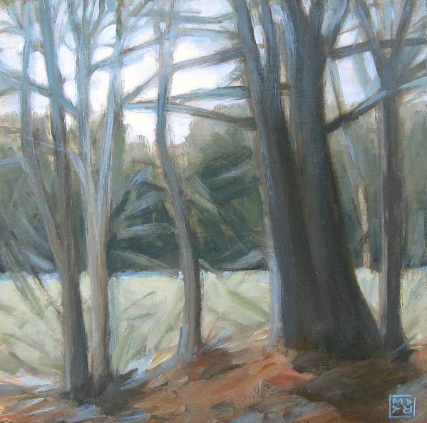 Landscape Poster featuring the painting The Edge January Thaw by Mary Brooking