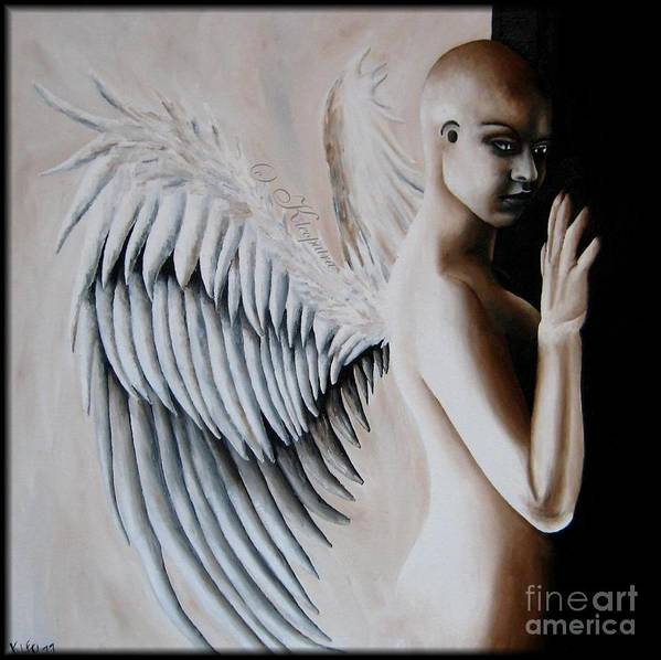 Angel Poster featuring the painting Two Choices by Kleopatra Aurel