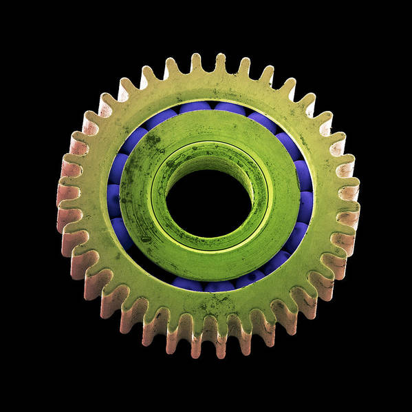 Gear Poster featuring the photograph Watch Cog, Sem by Steve Gschmeissner