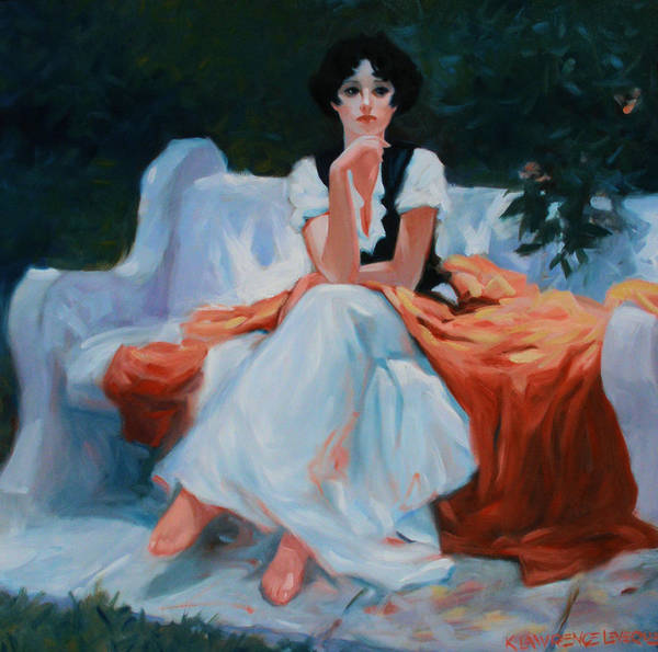 Portrait Poster featuring the painting Pensive Pose by Kevin Lawrence Leveque
