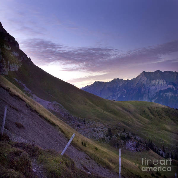 Alps Poster featuring the photograph Swiss Alps by Angel Ciesniarska