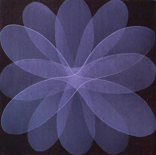 Abstract Poster featuring the painting Abstract Flower by Jitka Anlaufova