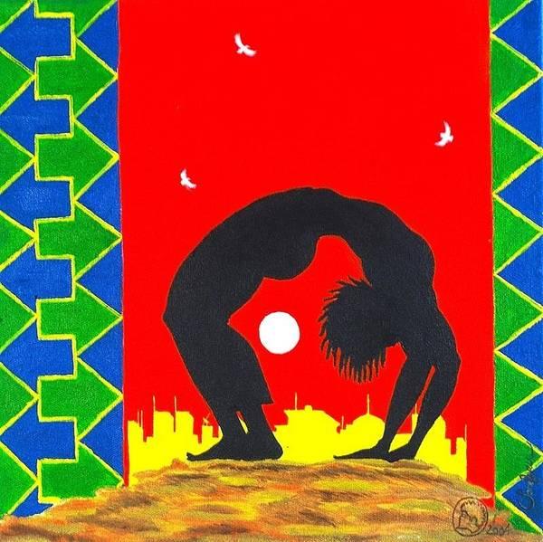 Maliksart Poster featuring the painting Uhuru Series by Malik Seneferu