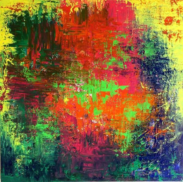 #artist #art #abstract #painting #textured #paints #rahat #beautiful #insta #dailyart #love #life #follow #amazing #world #pics #india #terraincognita #oilpastels #artbasel #artbuyers #artdealer #artcollector #artmuseum #paintingoftheday #contemporaryart #fashion #abstractart Poster featuring the painting Abstract Art by Rahat Kazmi