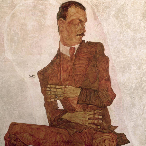 Arthur Roessler Poster featuring the painting Arthur Roessler by Egon Schiele