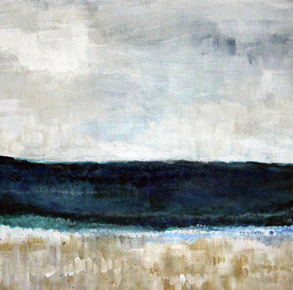 Beach Poster featuring the painting Beach- Abstract Painting by Linda Woods