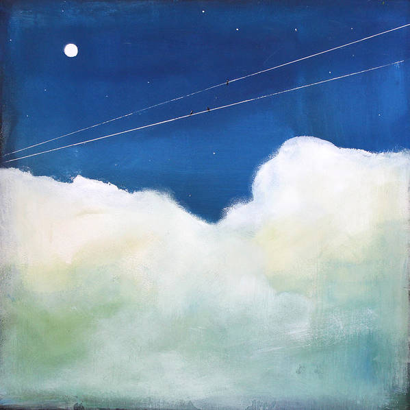 Sky Poster featuring the painting Blue Sky Birds by Toni Grote