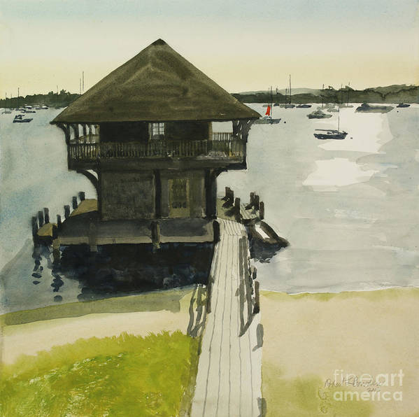 Martha Poster featuring the painting Boathose, Edgartown, Martha's Vineyard by Robert Bowden