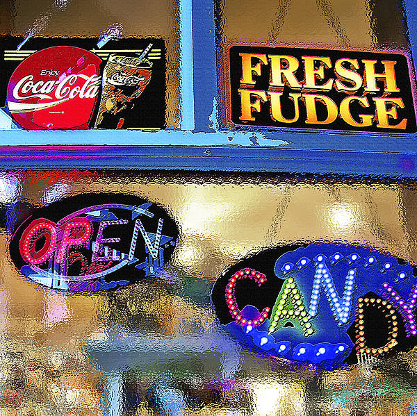 Candy Poster featuring the photograph Candy Store Window by Steve Ohlsen