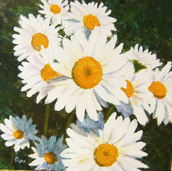 Daisy Poster featuring the painting Daisy by Tami Booher