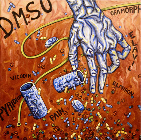 Pain Poster featuring the painting Dmso by Judy Henninger