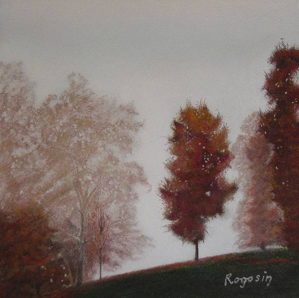 Landscape Poster featuring the pastel Early Morning Calm by Harvey Rogosin