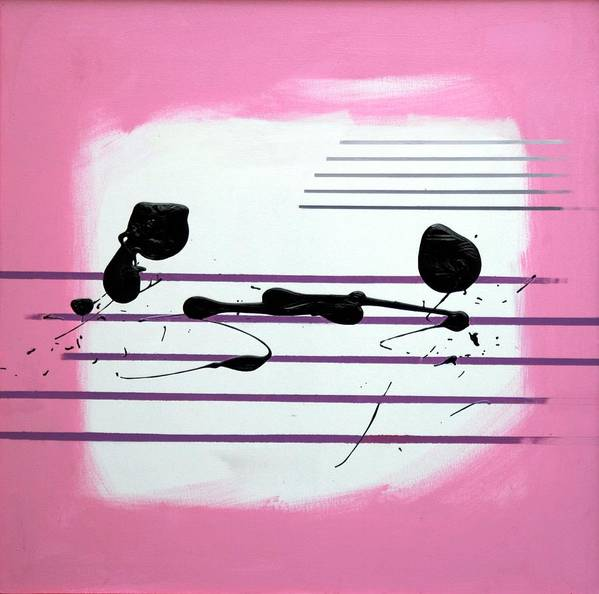 Abstract Poster featuring the painting Feelings by Mario Zampedroni