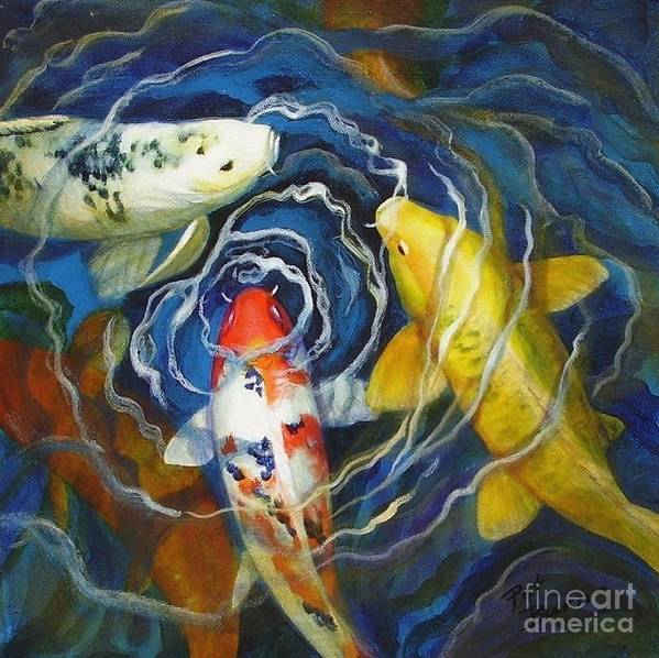 Fish Poster featuring the painting Fish Soup by Pat Burns