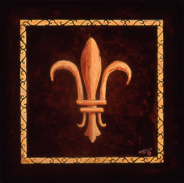France Poster featuring the painting Fleur De Lys-clovis by Marilyn Dunlap