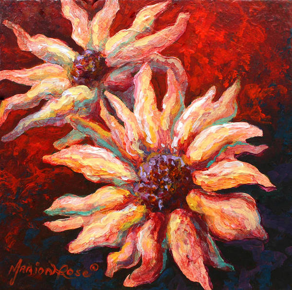 Floral Poster featuring the painting Floral Mini by Marion Rose