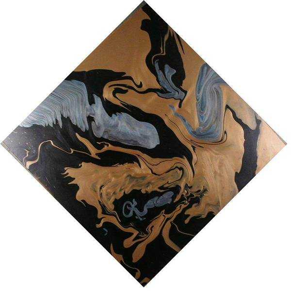 Abstract Poster featuring the painting Fossil by Patrick Mock