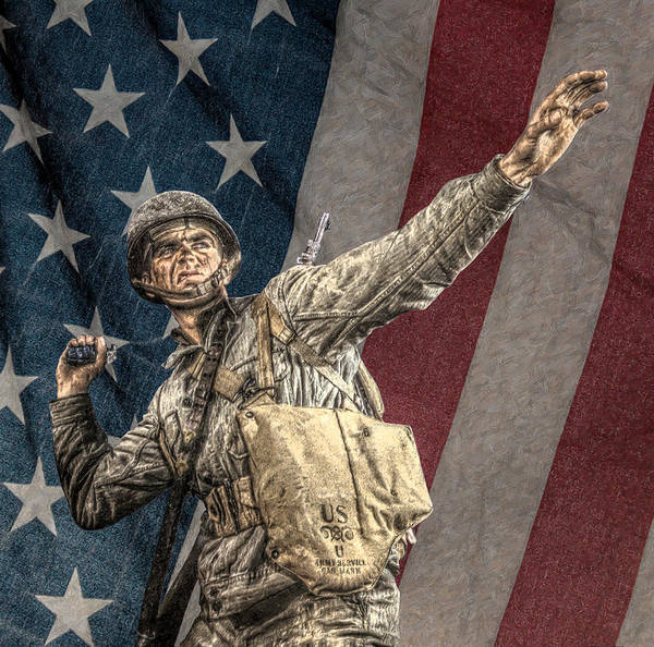Infantryman Poster featuring the digital art Home Of The Free Land Of The Brave by Randy Steele