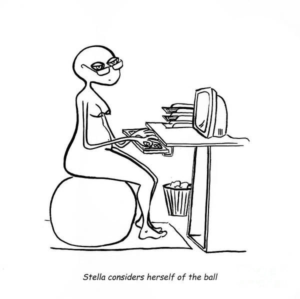 Stella Poster featuring the digital art Home Office by Leanne Wilkes