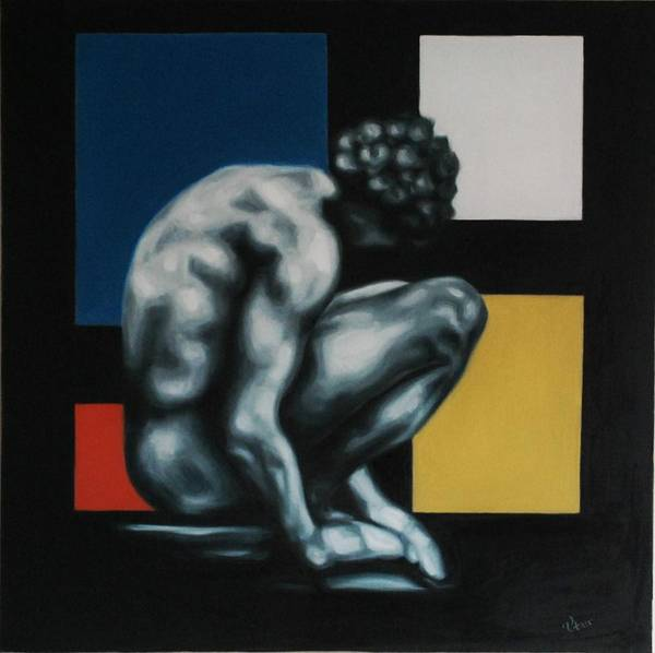 Modernart Poster featuring the painting In The Museum by Varvara Stylidou