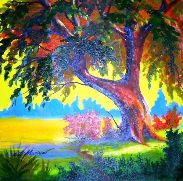 Landscape Poster featuring the painting Inspire-se by Leomariano artist BRASIL