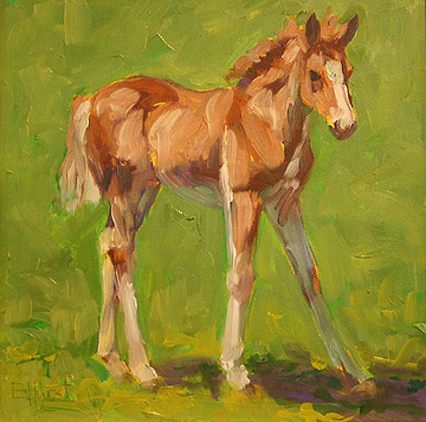 Foal Painting Poster featuring the painting Just Me by Elaine Hurst