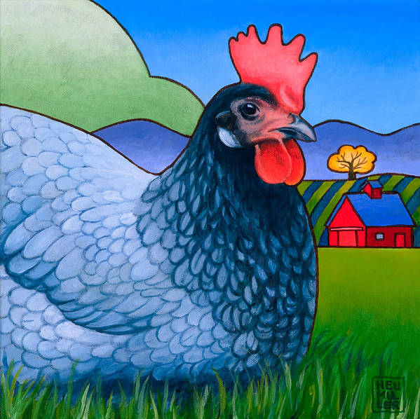 Hen Poster featuring the painting Langley The Island Girl by Stacey Neumiller