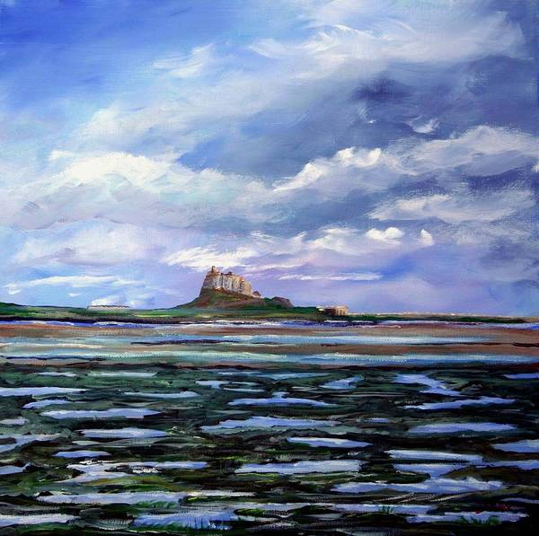 Lindisfarne. Holy Island. Northumberland. Seascape. England. Uk. Poster featuring the painting Lindisfarne. by John Cox