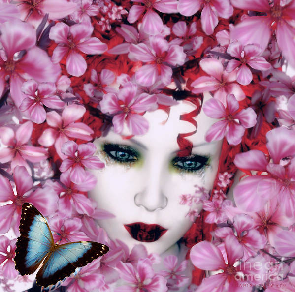 Butterfly Poster featuring the digital art Madame Butterfly by Shanina Conway