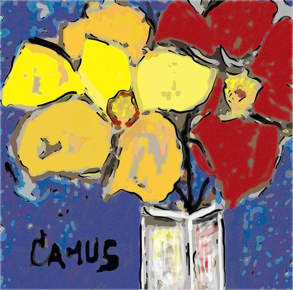 Art Poster featuring the painting Magnolia Y Colores by Carlos Camus