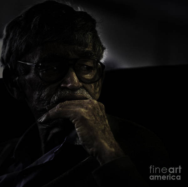 Portrait Poster featuring the photograph Man On Ferry by Sheila Smart Fine Art Photography