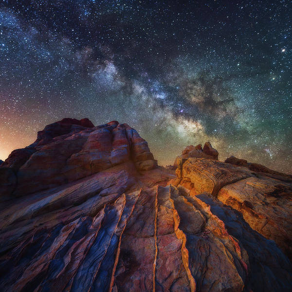 Milky Way Poster featuring the photograph Martian Landscape by Darren White