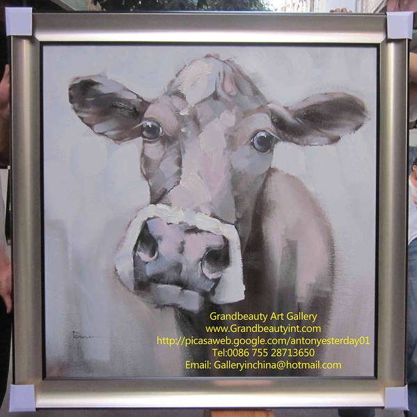 Original Cow Painting Poster featuring the painting ME by Darren
