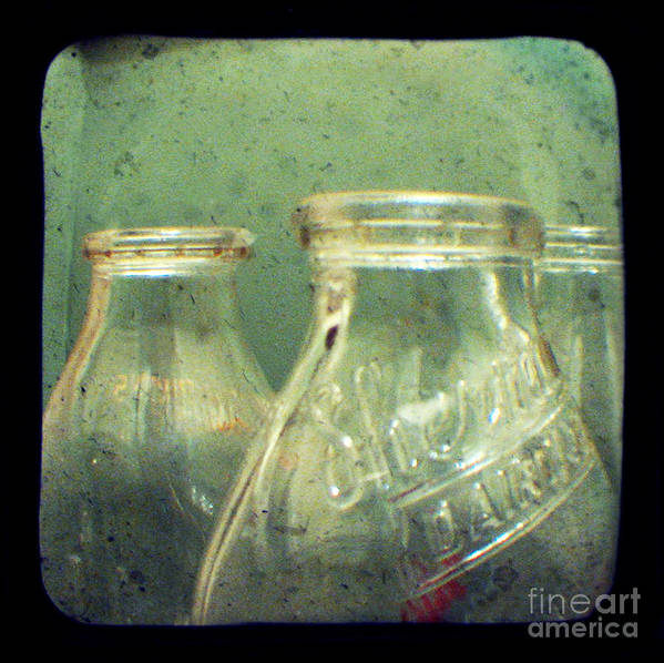 Ttv Poster featuring the photograph Milk Bottles by Dana DiPasquale